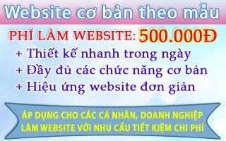 Mẫu website 500 ngàn