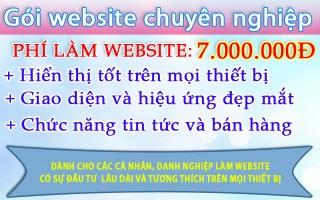Mẫu web trọn gói 7.000.000
