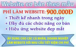 Mẫu website 900 ngàn