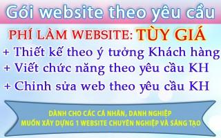 Mẫu website theo yêu cầu